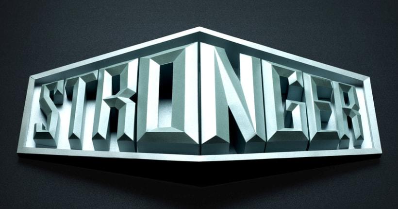 Crea un signage tridimensional con letras de papel con Lobulo 3