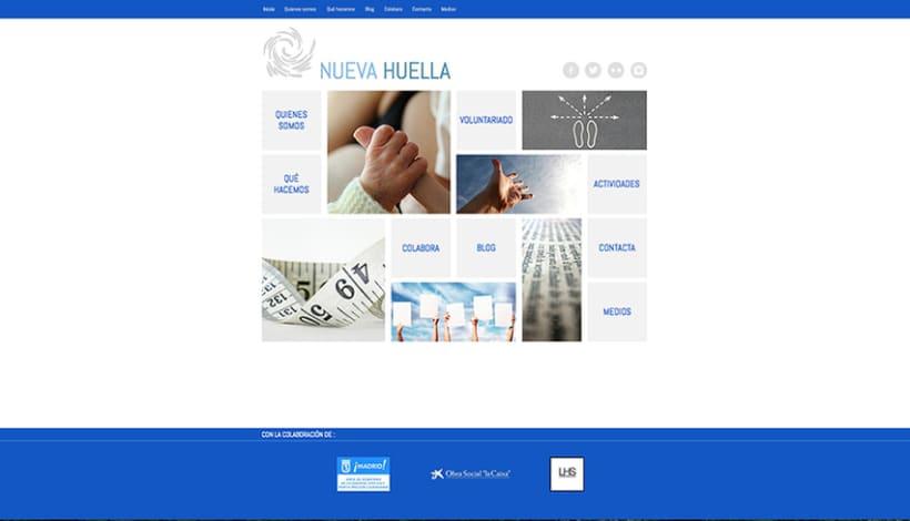Web desktop para Nueva Huella. 1