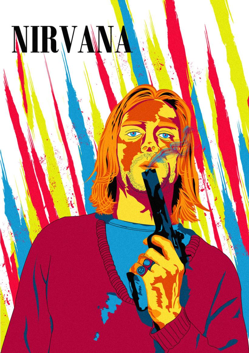 Retrato de Nirvana ( Kurt Cobain) 0