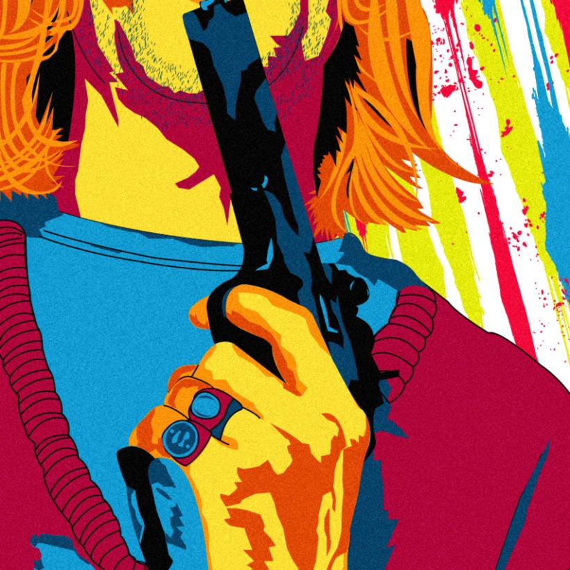Retrato de Nirvana ( Kurt Cobain) 1