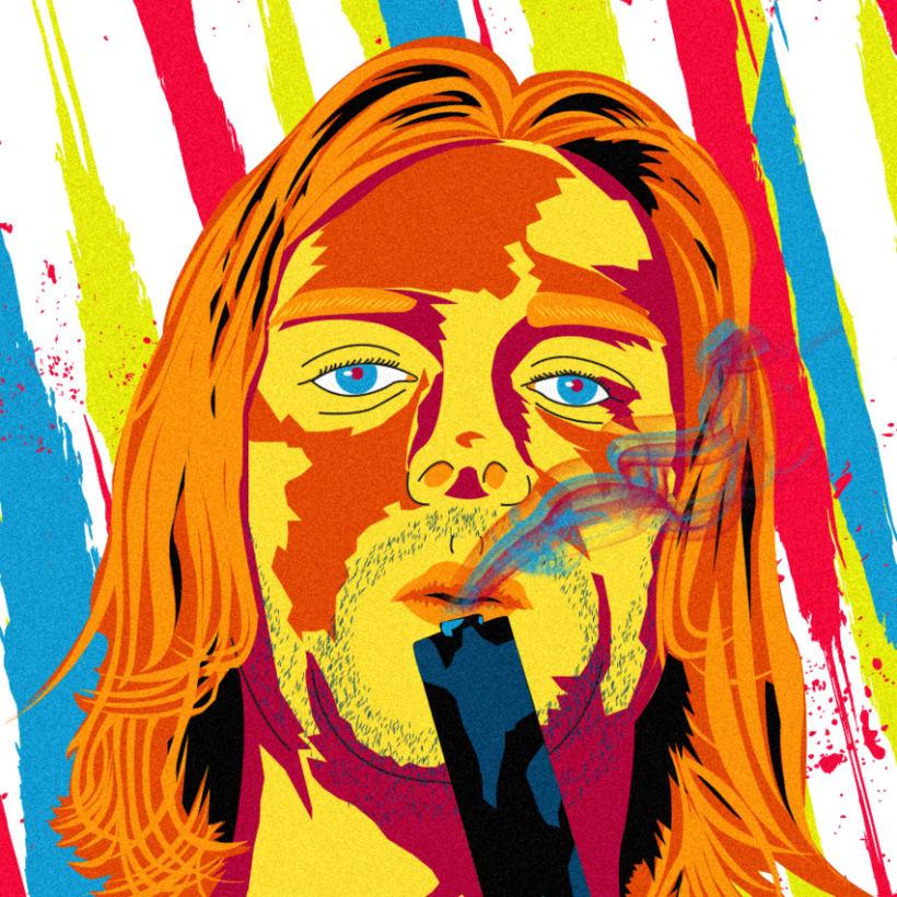 Retrato de Nirvana ( Kurt Cobain) 2
