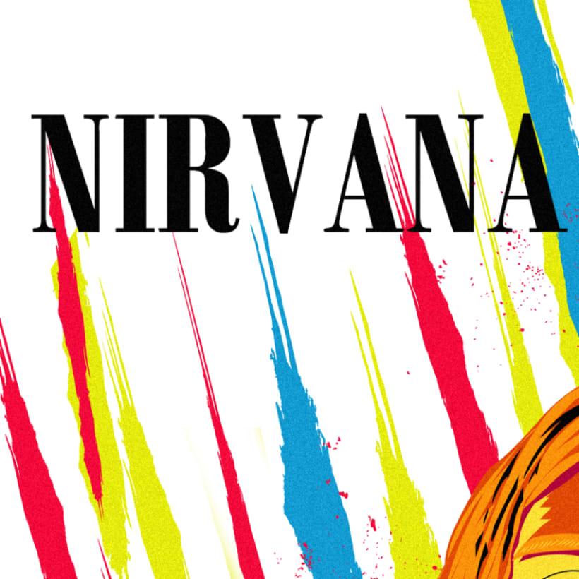 Retrato de Nirvana ( Kurt Cobain) 3