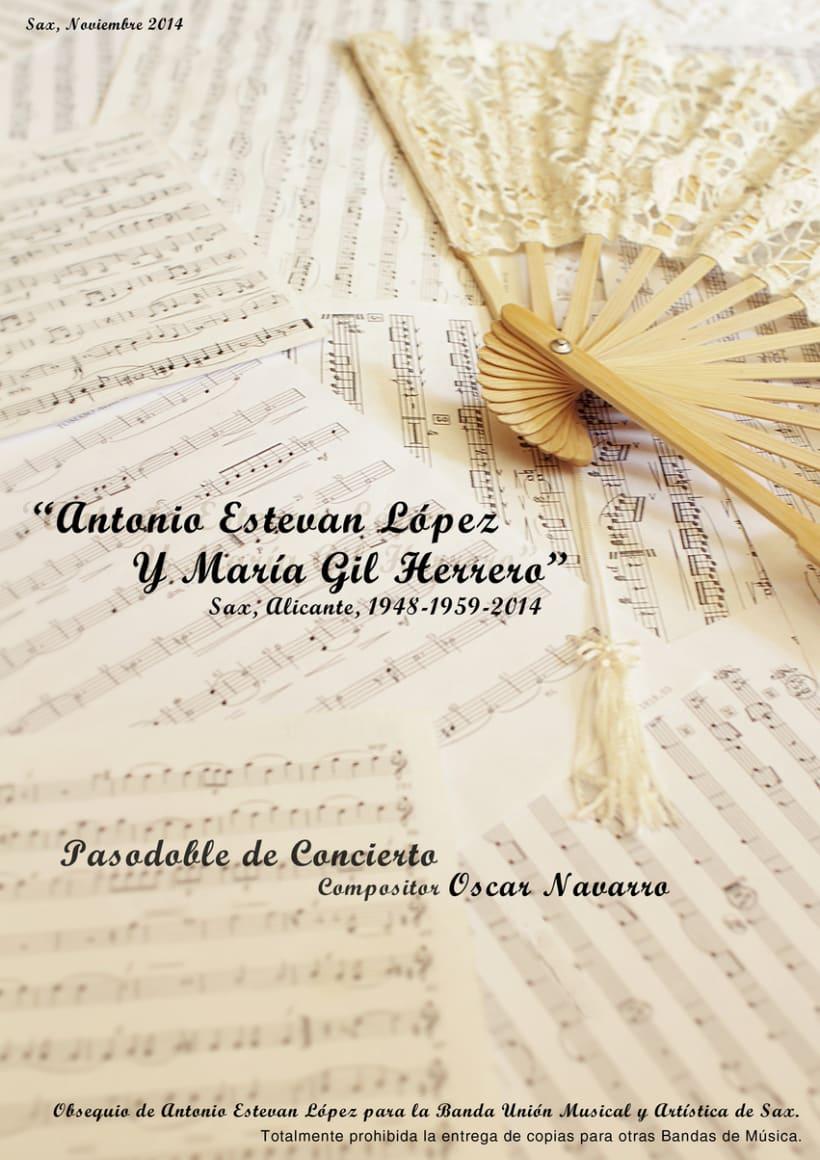 Carteles de Conciertos de Música. Encargos de Oscar Navarro. -1