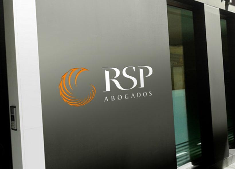 RSP Abogados es el nombre de un despacho ubicado en la ciudad de Buenos Aires y especializado en asesoramiento legal y comercial.  Nuestro cliente buscaba una nueva imagen elegante y profesional. -1