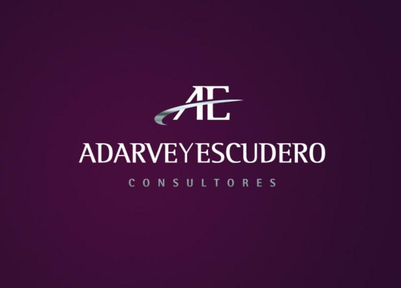 Adarve y Escudero es una consultoría madrileña que realiza un servicio integral de consultoría y gestión para todo tipo de empresas. Nuestro cliente buscaba una imagen muy cuidada, que trasmitiera seriedad y profesionalidad. -1