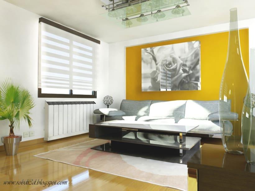 Infografía: Salón, diseño de interiores  0