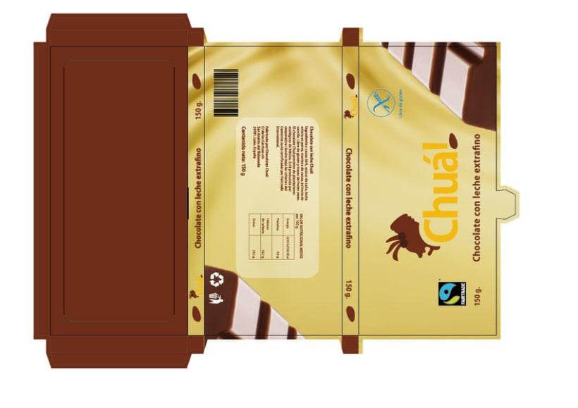 Marca gráfica chocolates Chuá! 1