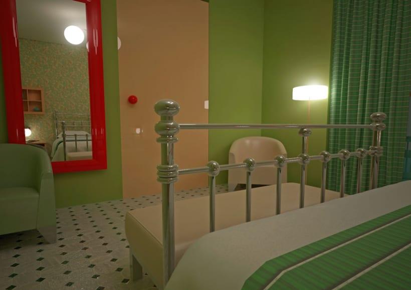 ESTILO RETRO. Dormitorio Individual -1
