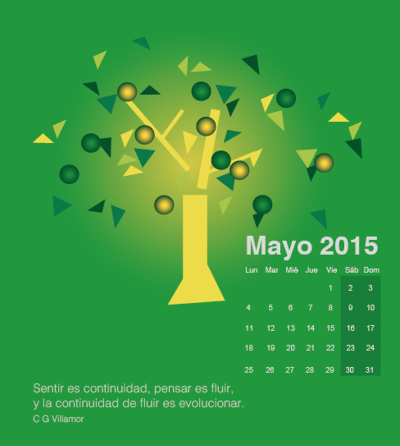 Calendario para mi escuela de meditación de la editorial Sereno 4