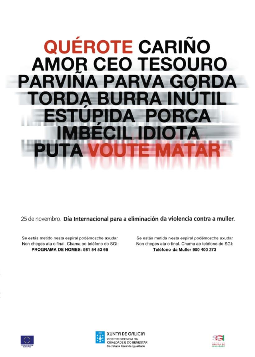 Campañas contra os malos tratos ás mulleres.  Xunta de Galiza. 2007/2009  0