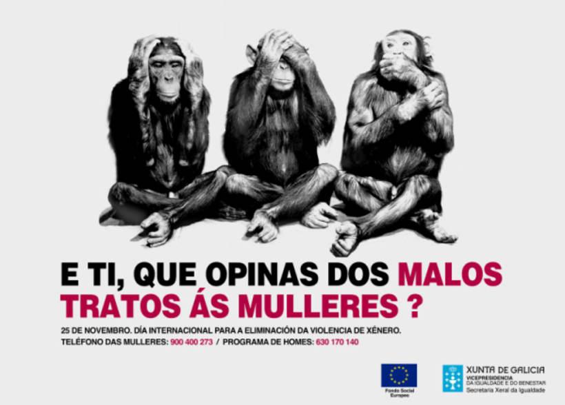 Campañas contra os malos tratos ás mulleres.  Xunta de Galiza. 2007/2009  1