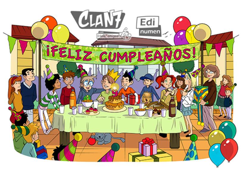 Clan 7 con ¡Hola, amigos! - Ed. Edinumen (Ilustración infantil) 5