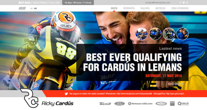 Ricky Cardús 2014 MotoGP rider 10