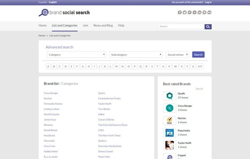 Brand Social Search 2