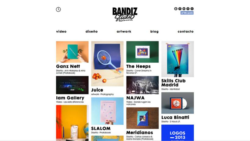 Desarrollo web para Bandiz studio 1
