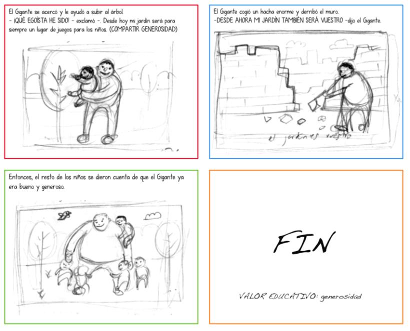 "Cuento infantil interactivo ""El Gigante Egoísta"" 2"