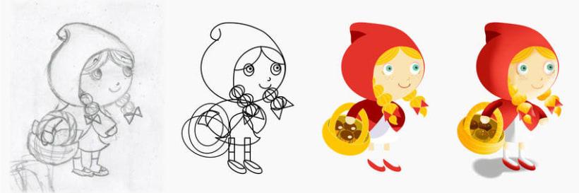 """Cuento infantil interactivo """"Caperucita Roja"""" 1"""