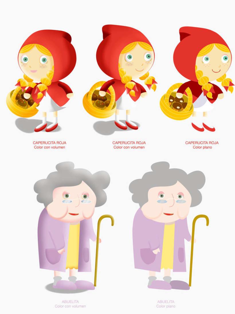 """Cuento infantil interactivo """"Caperucita Roja"""" 2"""