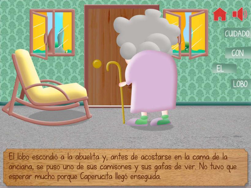 """Cuento infantil interactivo """"Caperucita Roja"""" 16"""