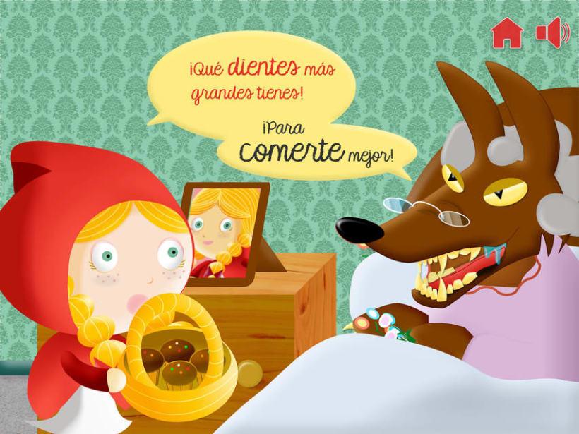 """Cuento infantil interactivo """"Caperucita Roja"""" 18"""