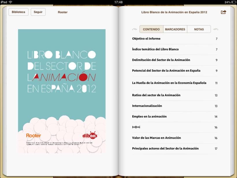 """Epub 2.0 """"Libro blanco del sector de la animación en España 2012"""" 1"""