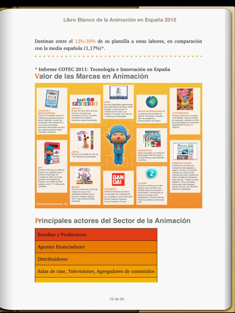 """Epub 2.0 """"Libro blanco del sector de la animación en España 2012"""" 4"""