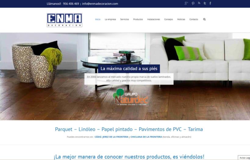 Web corporativa ENMA DECORACIÓN 0