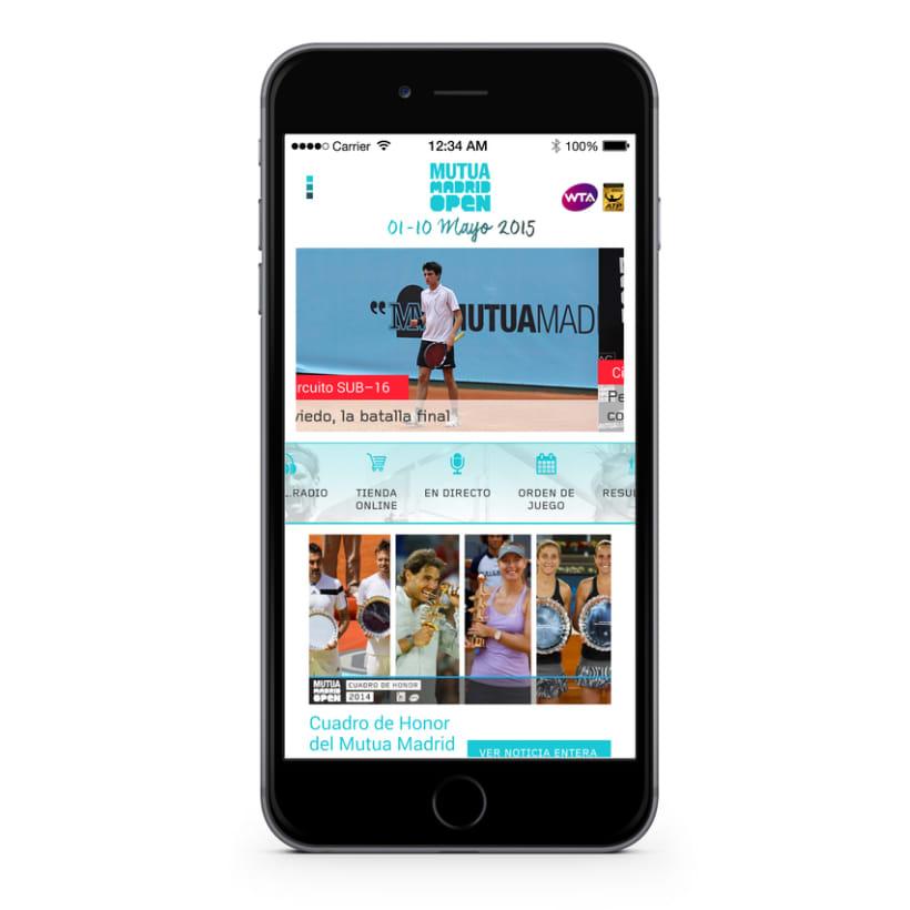 "Wireframes y mockups propuesta diseño app ""Mutua Open Madrid 2015"" 5"