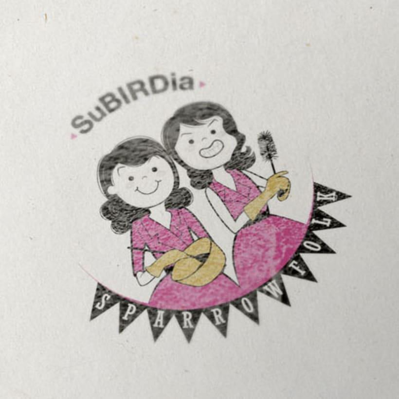 Creación de retrato-logotipo para Grupo musical 0