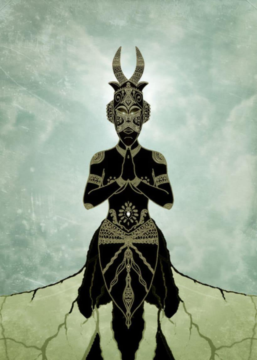 Masks, sacred scarab and Ornate spirituality 3