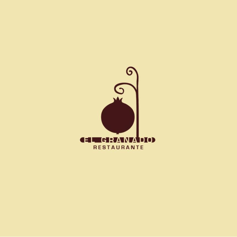 Diseño logotipo Restaurante El Granado 0
