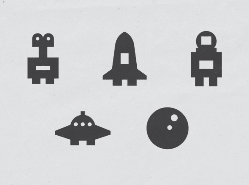 Space stamps set 0
