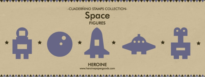 Space stamps set 1