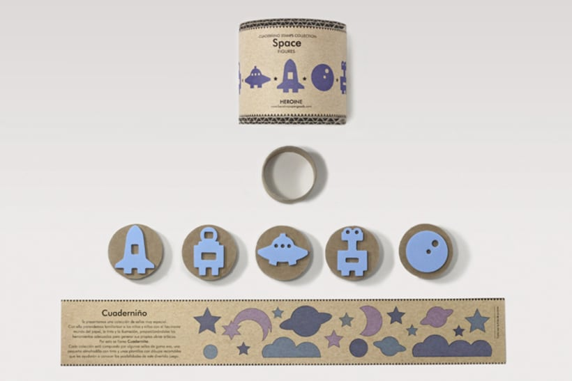 Space stamps set 4