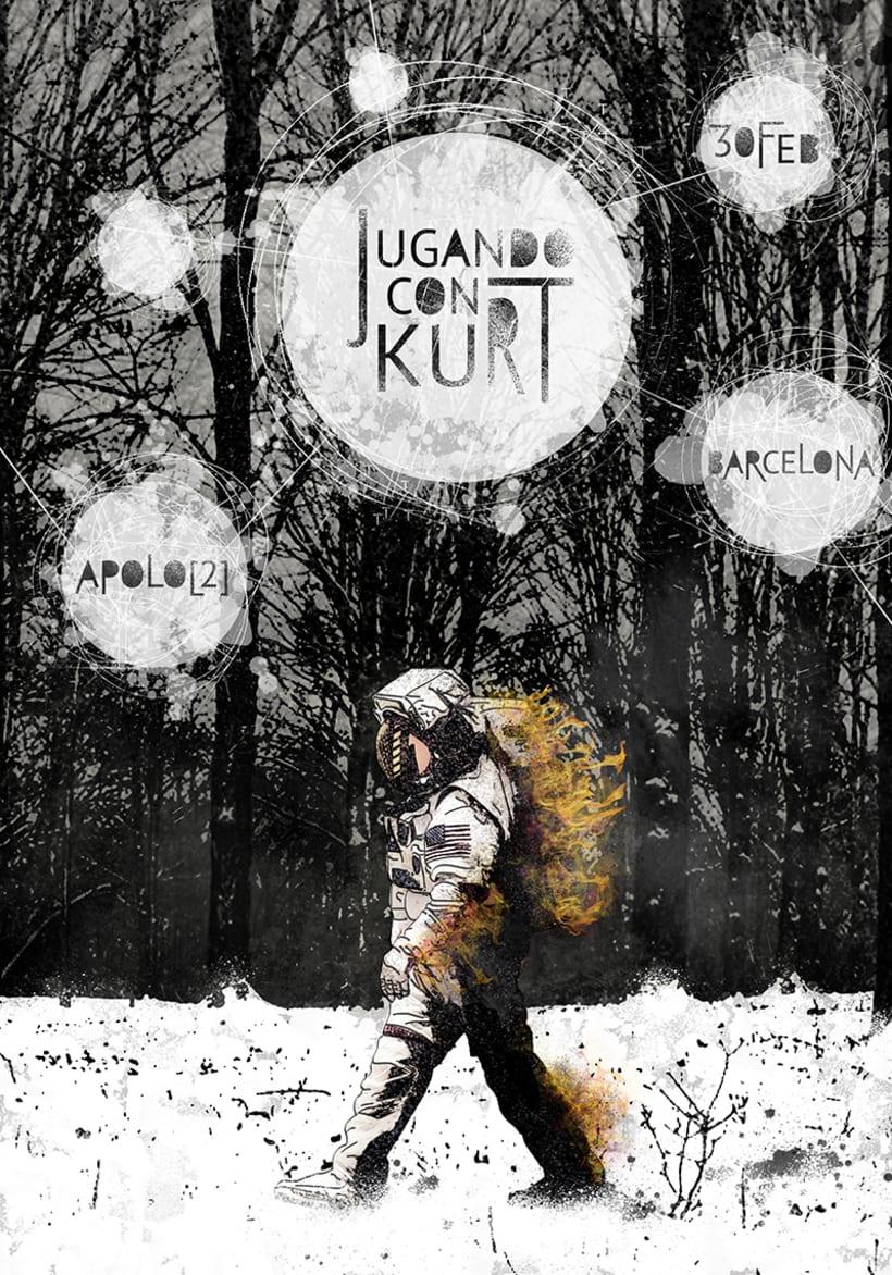 Cartel Jugando con Kurt -1