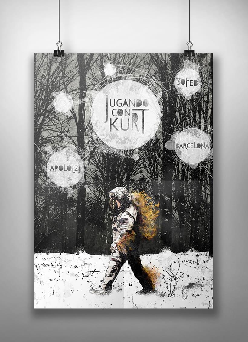 Cartel Jugando con Kurt 0