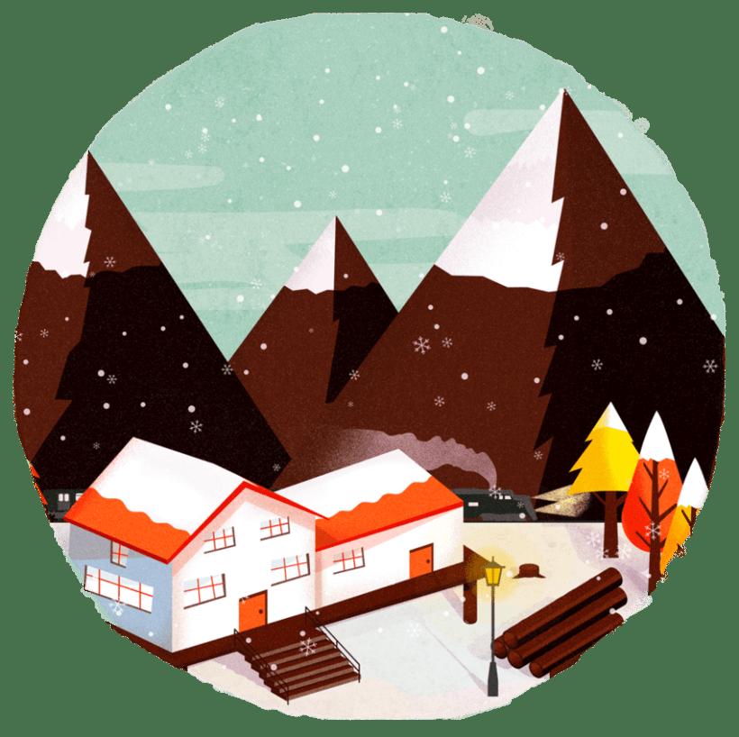 snowy autumn 2