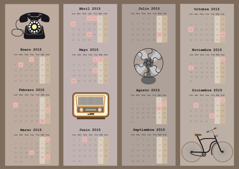 calendario objetos antiguos 0