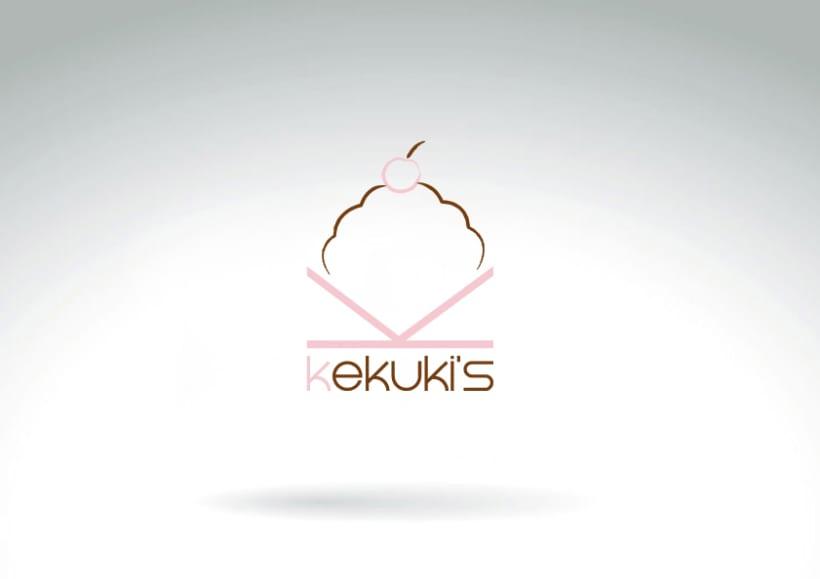 Diseño de imagen corporativa y logotipo de marca de cupcakes y muffins. 0