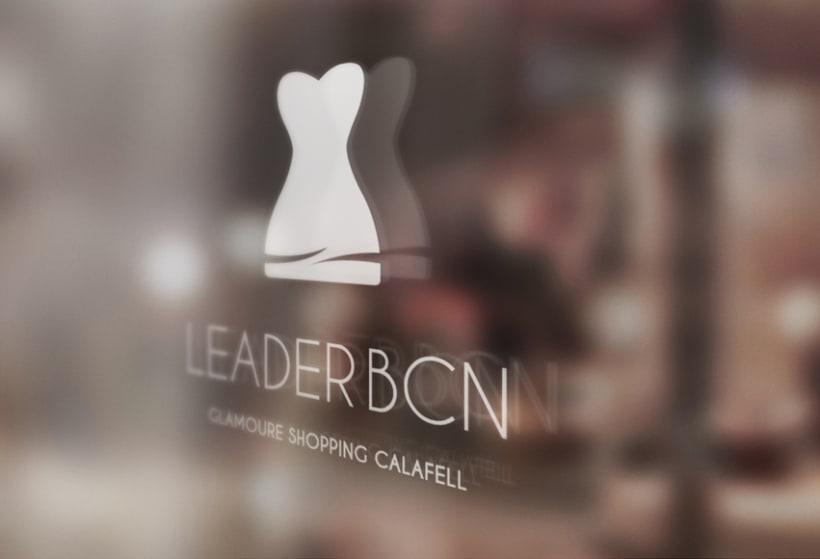 Propuesta de imagen corporativa y logotipo general para la empresa de moda femenina Leader BCN. -1