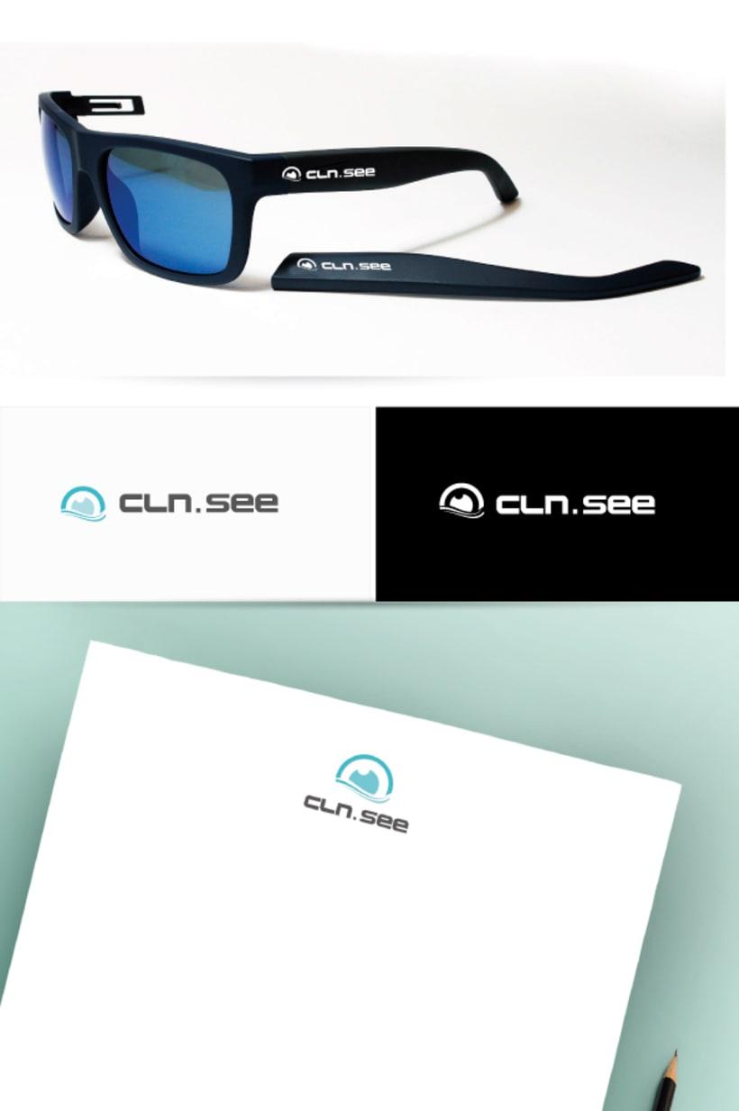 Diseño Logo marca de gafas 1