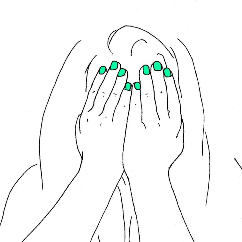 Para tímidas. Si tus manos fueran espejo, no te taparías la cara. -1