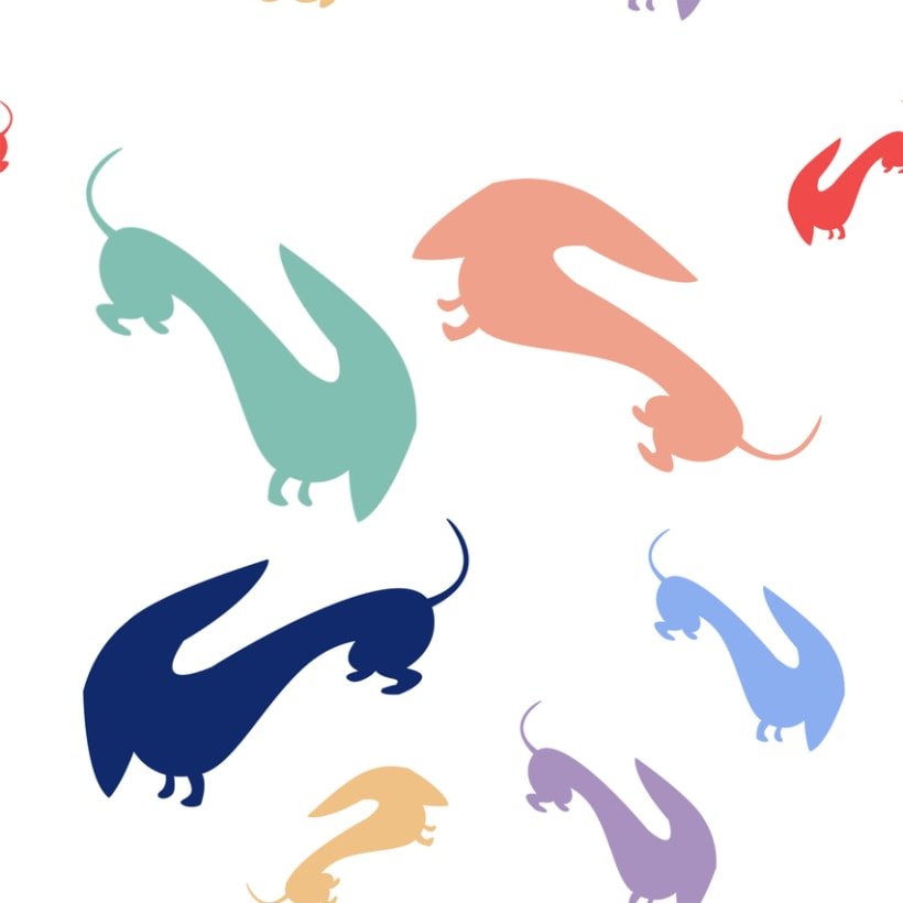 Mi Proyecto del curso Motivos para repetir: Teckels de colores 1