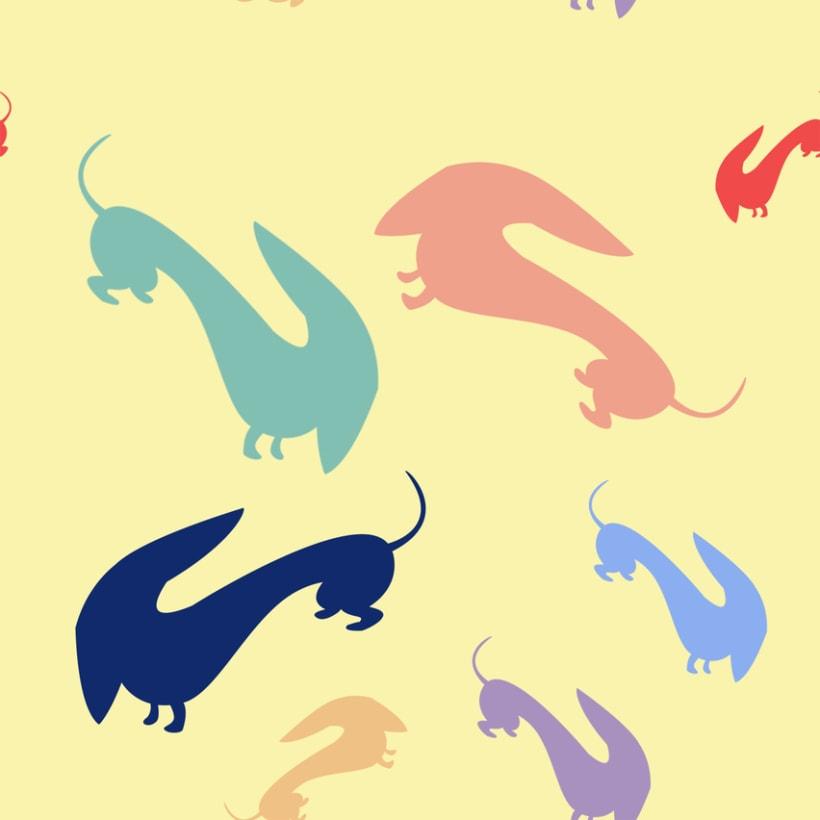 Mi Proyecto del curso Motivos para repetir: Teckels de colores 2
