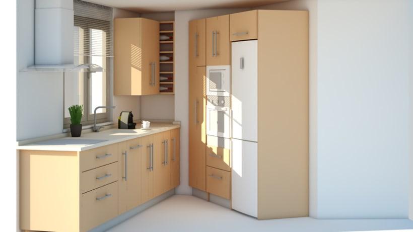 Cocina 3d domestika for Amueblamiento de cocinas