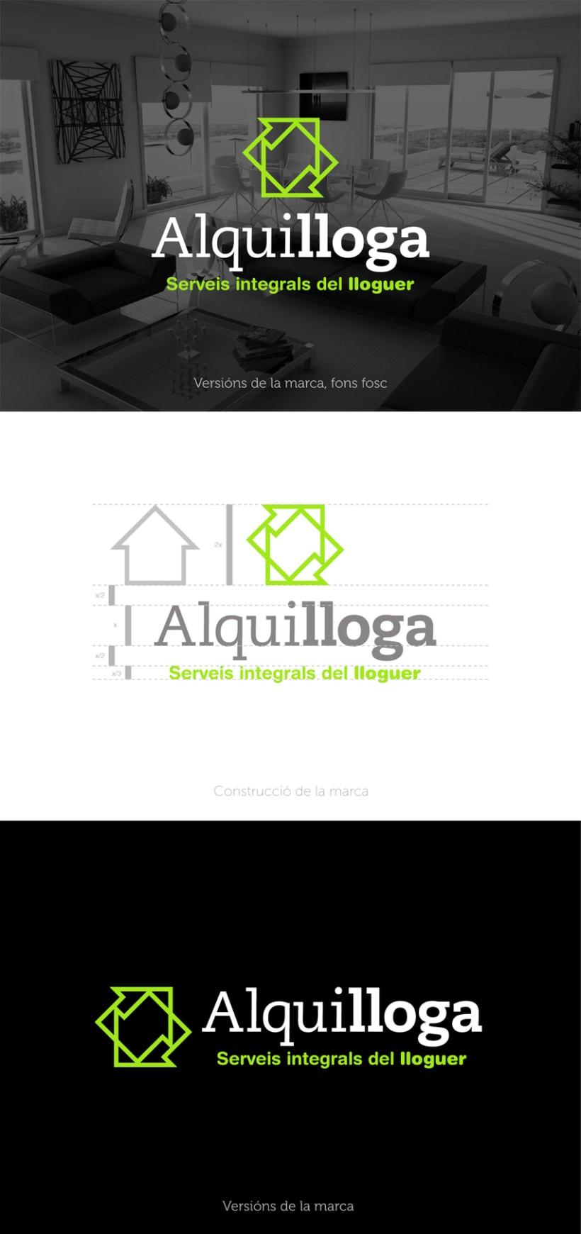 """Identidad corporativa """"Alquilloga"""" 1"""