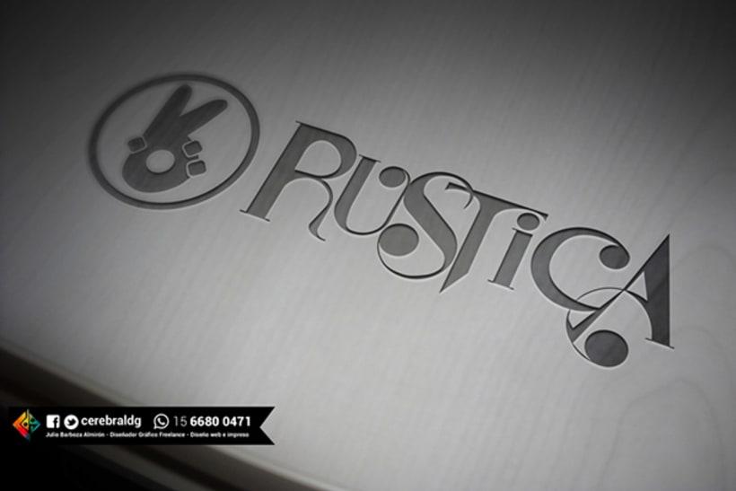 Diseño de Identidad visual para la banda Rustica 0