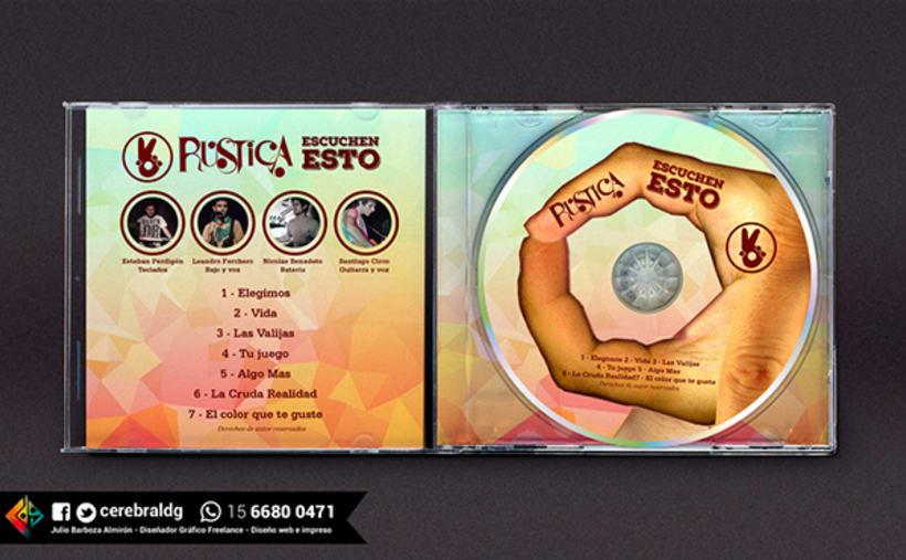 Diseño de Identidad visual para la banda Rustica 2