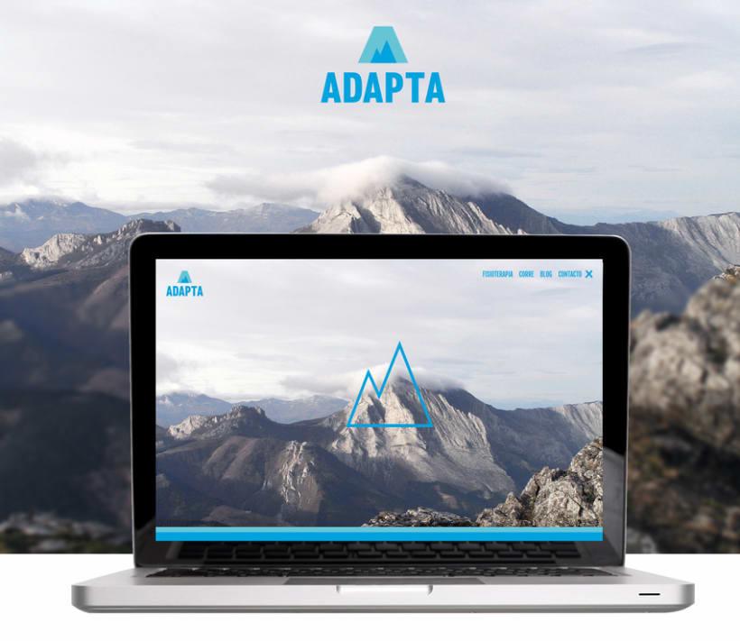 Imagen corporativa y web - Adapta Fisioterapia 6
