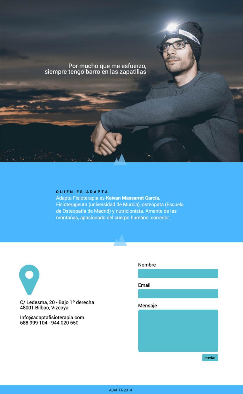 Imagen corporativa y web - Adapta Fisioterapia 9